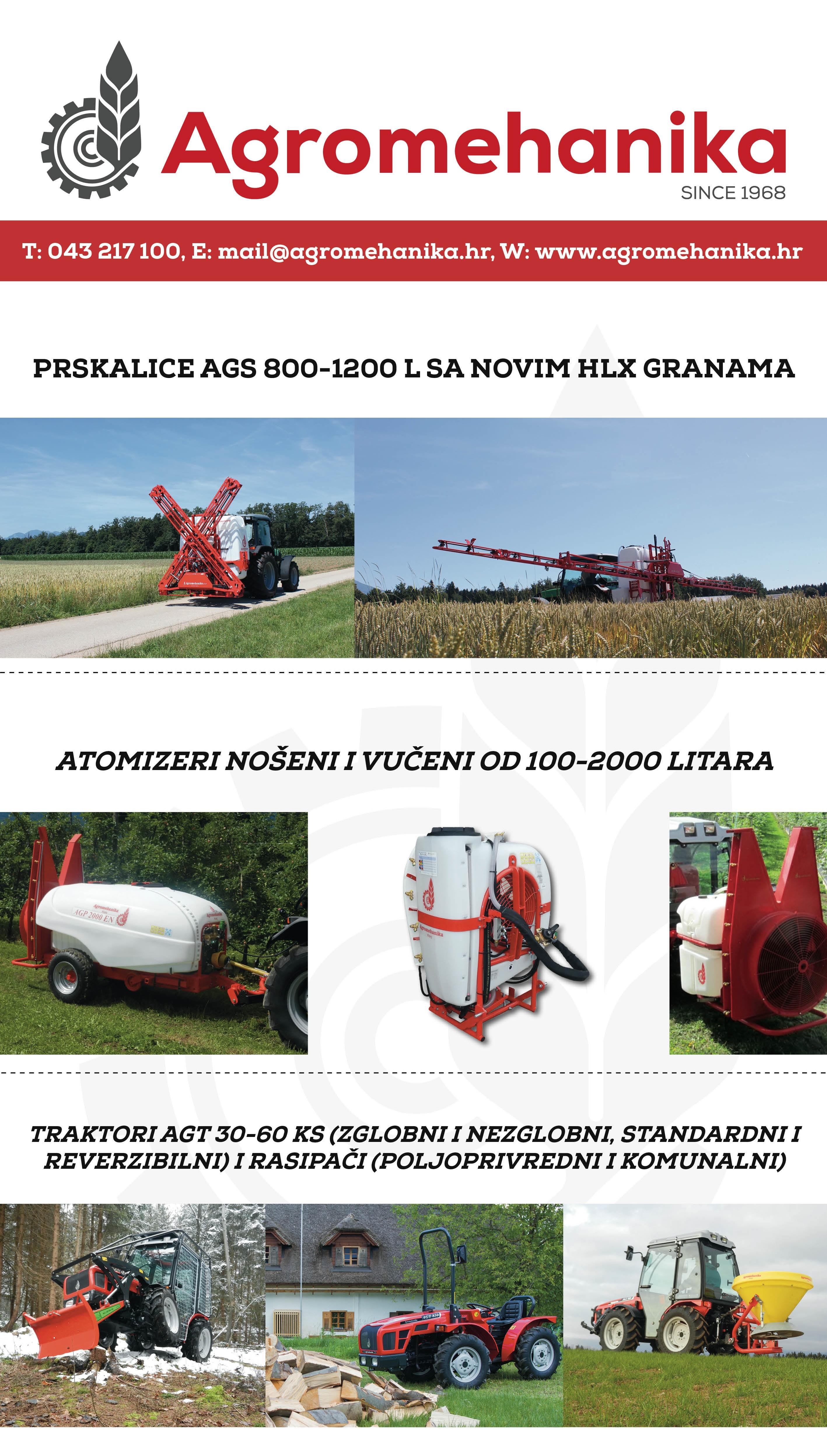 Prskalice, dodatna oprema i traktori